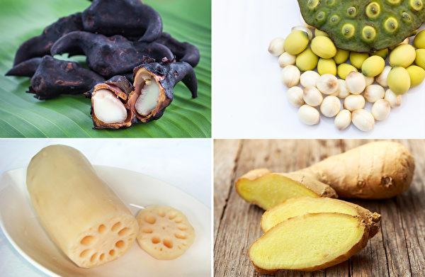 饭前不可吃的水果 - 菱角、莲子、莲藕、生姜