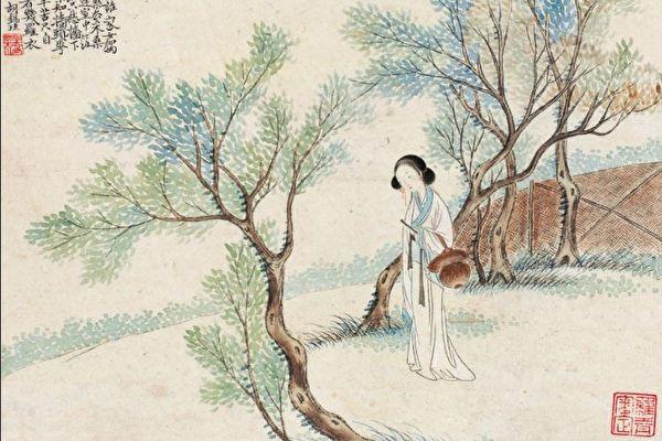 清朝时期的采桑女