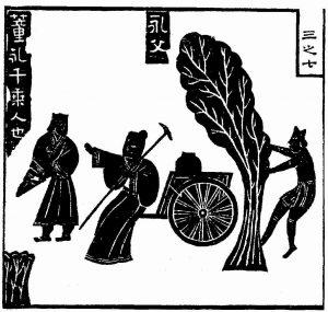 董永辘车载父-耕种农田