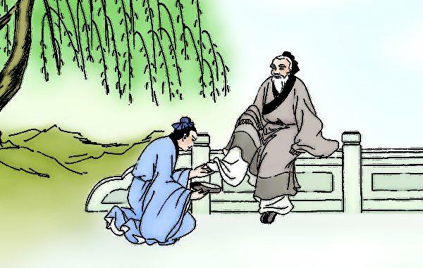 张良帮老人穿鞋