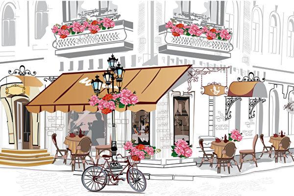 巴黎咖啡店