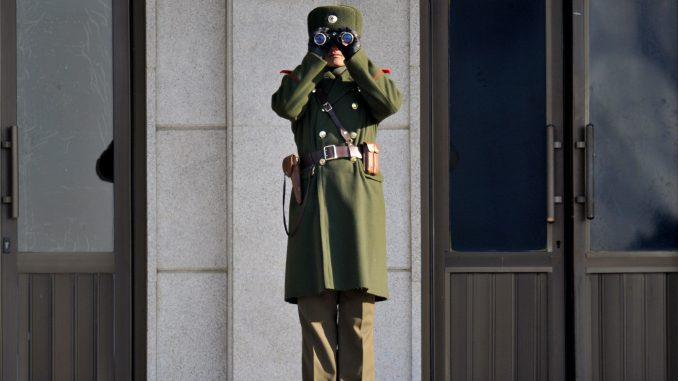 板门店朝鲜士兵