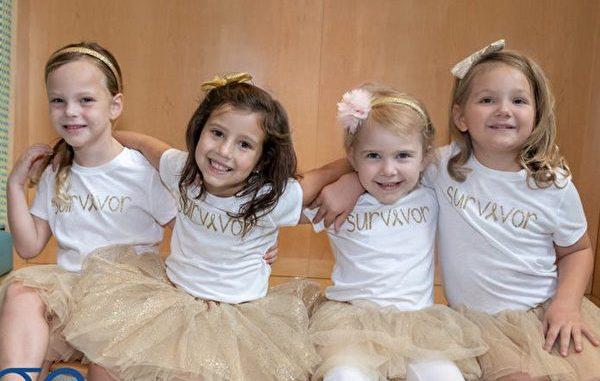 一段珍贵的友情,让四个同时跟死神搏斗的小女孩再也不感觉孤单。(Johns Hopkins All Children's Hospital/Facebook)