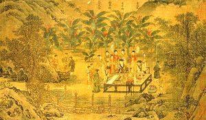 苏轼写书法-众人围观