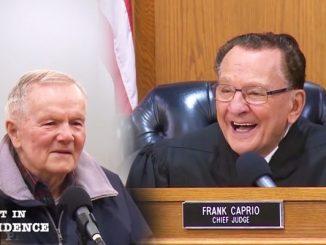 83岁法官审90岁超速驾驶员(图片:Caught In Providence-youtube视频截图/希望之声合成)