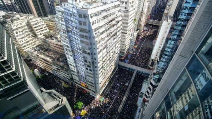 七一大游行, 反送中,香港铜锣湾