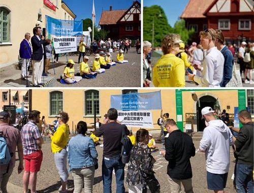 中共瑞典大使, 举报到美国,迫害法轮功