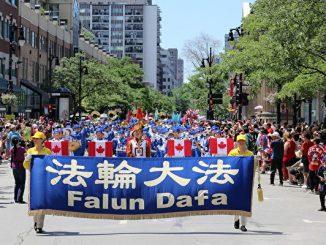 法轮功, 天国乐团, 蒙特利尔, 加拿大国庆, 国庆游行