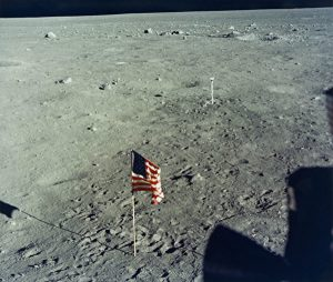 US Flag On The Moon