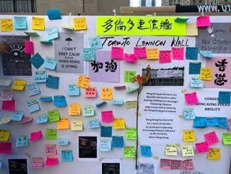 加拿大, 反送中, 香港, 连侬墙(Lennon Wall)