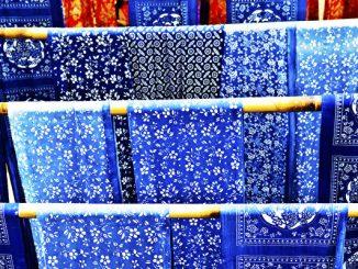 蓝印花布。(shutterstock)