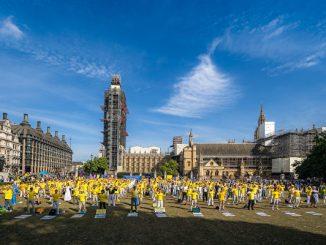 反迫害, 20周年, 法轮功学员, 伦敦集会, 活摘器官