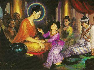 释迦牟尼佛与罗云