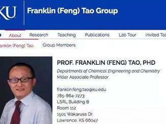长江学者, 堪萨斯大学, 千人计划, 窃取知识产权, 华裔教授