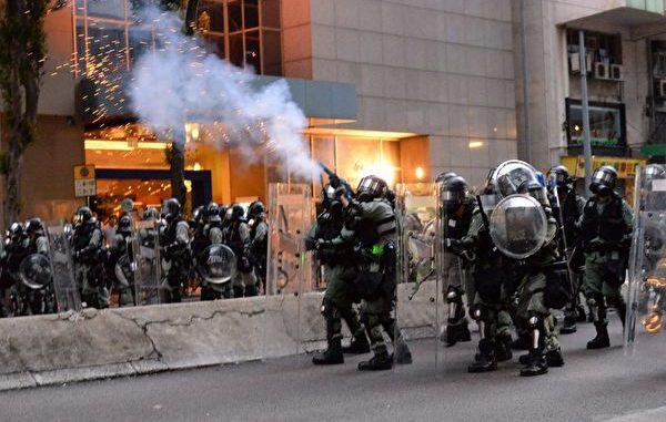 反送中运动, 中共喉舌造谣, 杀警