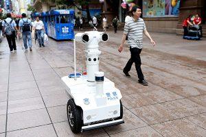 5G警用巡逻机器人, 脸部识别, 监控, 步态识别, 声纹识别