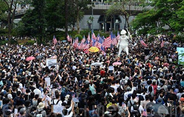 400学者联署, 香港人权与民主法案, 中共, 美国国会, 如芒在背
