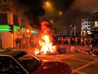 反送中, 十一, 太子站, 嫁祸, 香港人权与民主法案