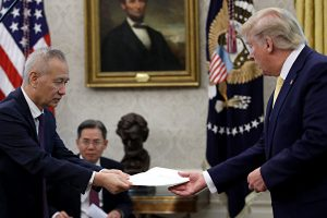 特朗普, 贸易谈判, 贸易战, 刘鹤, 习近平口信