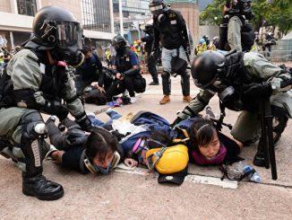 港警, 违法, 反送中, 示威者