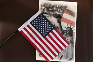Immigrants To U.S. Become Citizens During Naturalization Ceremony On Ellis Island