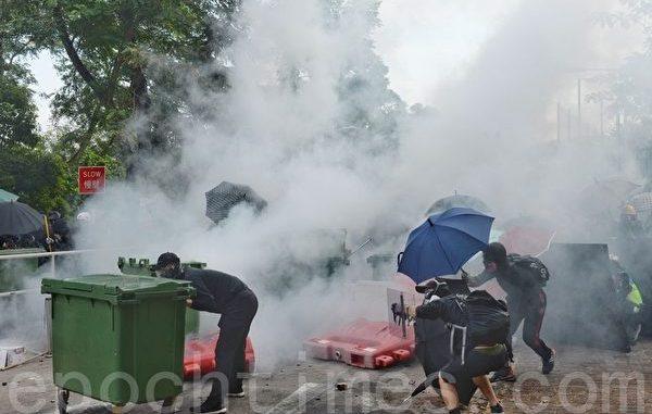 中文大学, 香港, 反送中, 二号桥, 港警