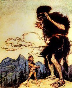巨人国, 民间传说故事, 巨人传说