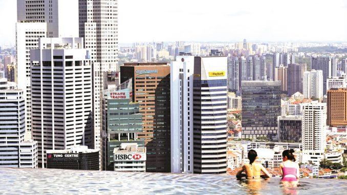 新加坡滨海湾金沙酒店 游泳池