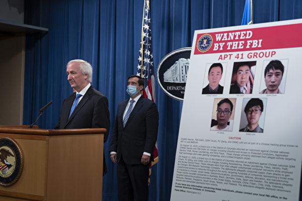 美国司法部副部长罗森(Jeffery A. Rosen)9月16日宣布,美政府已经对5名中国人和两名马来西亚人进行起诉。他们涉嫌在全球范围内进行网络攻击。