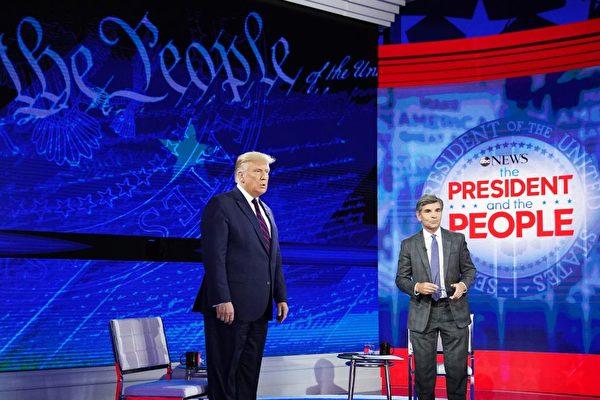 9月16日,川普在ABC节目上讲述他跟习近平交恶的过程。
