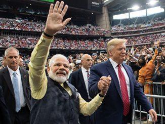 为了对抗中共在印度洋地区日益增大的影响力,印度支持美国在印度洋地区的防务参与。图为印度总理莫迪和美国总统川普会面的资料照。