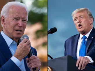 美国总统川普(特朗普)和民主党总统候选人拜登于9月29日晚在俄亥俄州的克利夫兰市进行2020年总统大选的首场辩论。