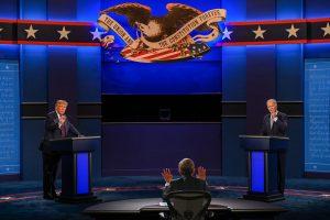 9月29日,2020年美国总统大选首场辩论会。