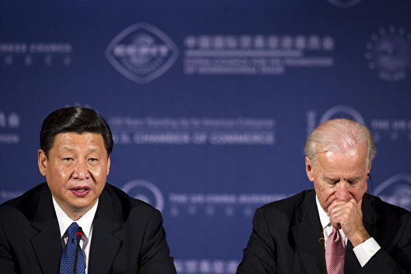 2012年2月14日,时任中共国家副主席习近平与美国副总统拜登进行会谈。